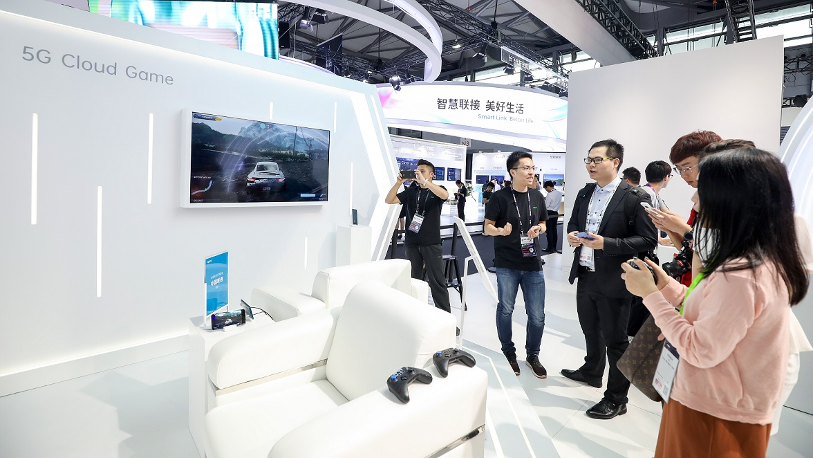 Le stand OPPO au Mobile World Congress de Shanghai 2019