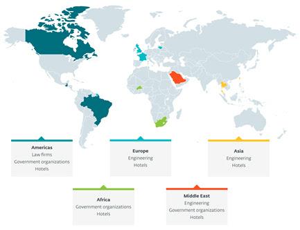 Répartition géographique des cibles de FamousSparrow